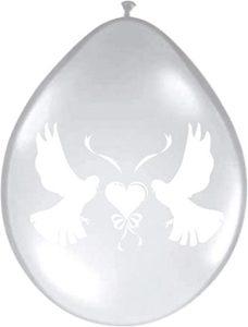 Ballonnen Duiven Wit Transparant