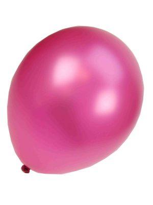 Ballonnen Onbedrukt Metallic Fuchsia 100 Stuks