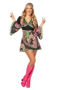 Hippie Jurk Zwart Pink