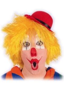 Pruik Clown Touwtjes Geel Haar