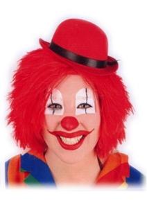 Pruik Clown Touwtjes Rood Haar