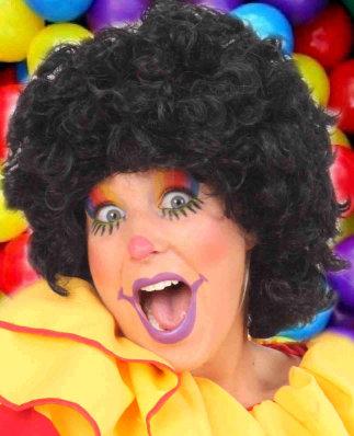 Pruik Clown Zwart Krullen