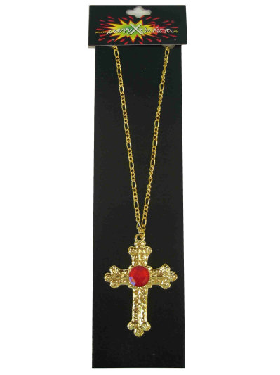 Sint Kruis Metaal Goud + Steen