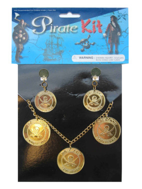 Piraten Ketting + Oorring