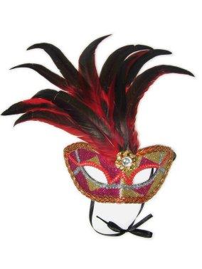 Oogmasker Venetiaans de Luxe Rood