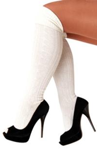 Tiroler Sokken Wit Dames