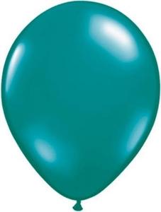 Ballonnen Onbedrukt Turqoise 10 Stuks