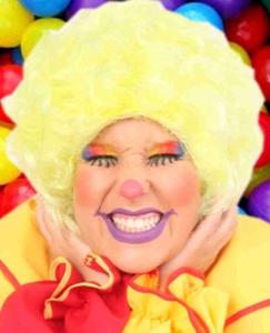 Pruik Clown Geel Krullen
