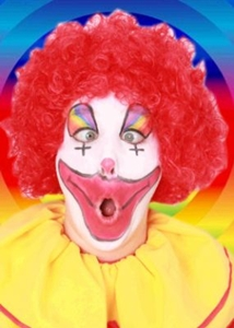 Pruik Clown Rood Krullen
