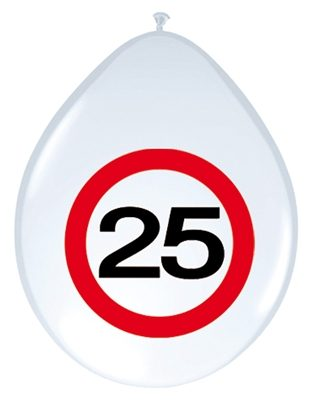 Ballonnen 25 Jaar Stopbord