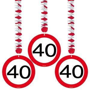 Guirlande 40 Jaar Stopbord