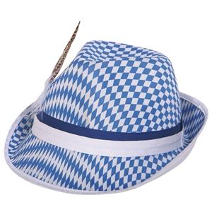 OktoberFest Hoed Blauw Wit
