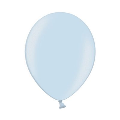 Ballonnen Onbedrukt Metallic Licht Blauw 10 Stuks