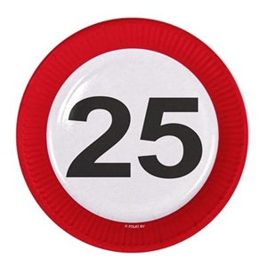 Borden 25 Jaar Stopbord Karton