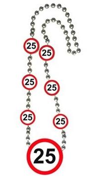 Ketting 25 Jaar Leeftijd Stopbord