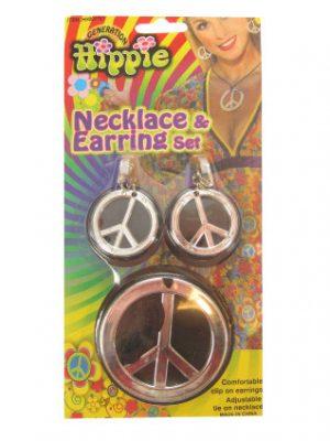 Hippie Peace Ketting Oorringen