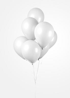 Ballonnen Onbedruk Wit 100 stuks 30 Cm