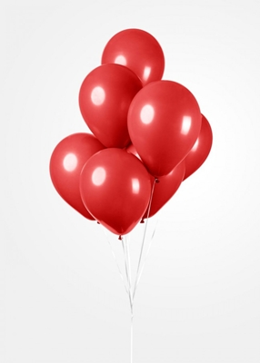 Ballonnen Onbedruk Rood 10 stuks