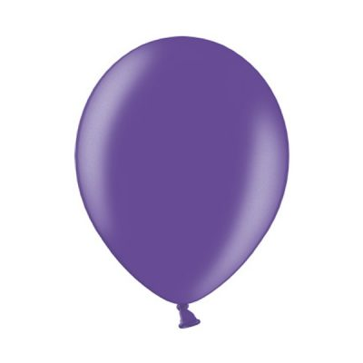 Ballonnen Onbedrukt Metallic Paars 10 Stuks