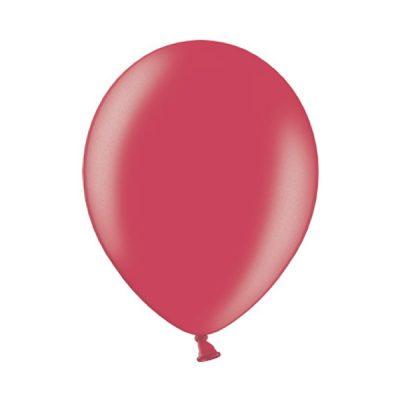 Ballonnen Onbedrukt Rood Metallic 10 Stuks