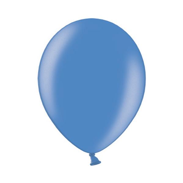 Ballonnen Blauw Metallic 10 Stuks