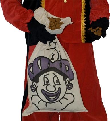 Zwarte Piet Strooizak Katoen