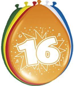 Ballonnen 16 Jaar Leeftijd