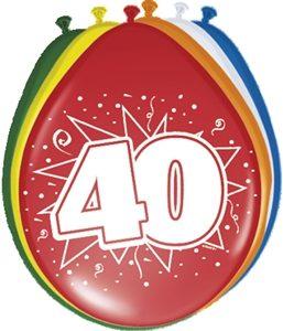 Ballonnen 40 Jaar Leeftijd