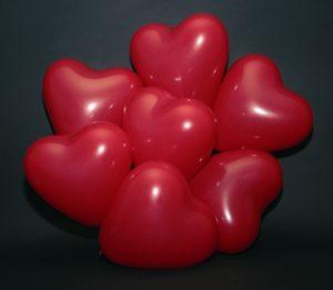 Hartjes Ballonnen Rood