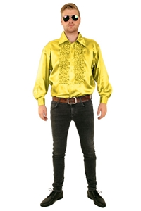 Ruches blouse geel