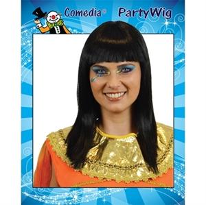 Pruik Cleopatra Zwart
