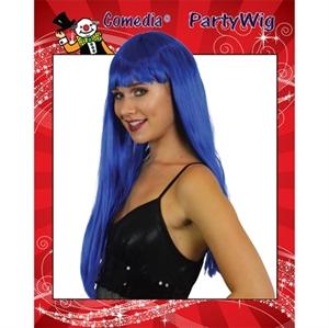 Pony Pruik Luxe Blauw