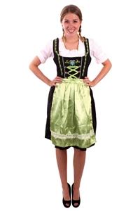 Tiroler Jurk Dirndl Groen Zwart
