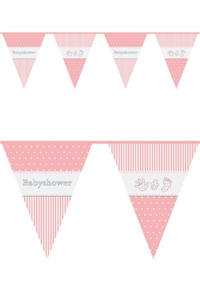 Vlaggenlijn BabyShower Meisje
