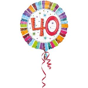 Folie Ballon 40 Jaar Radiant