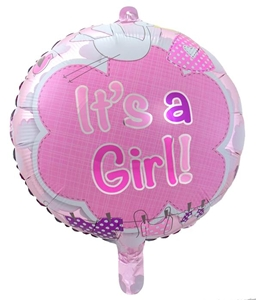 Folie Ballon Baby Its A Girl