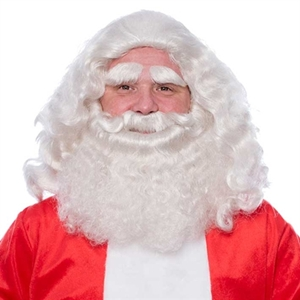 Baardstel Kanekalon Kerstman Luxe