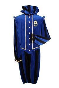 Piet Fluweel Pamplona Blauw Zwart