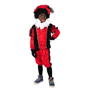 Piet Pak Kind Veloers Rood Zwart