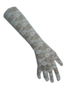 Handschoenen Kant Wit Lang