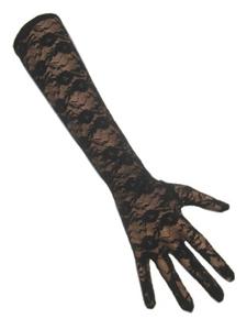 Handschoenen Kant Zwart Lang