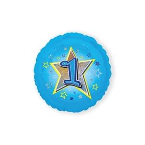Folie Ballon 1 Jaar Blauwe Ster