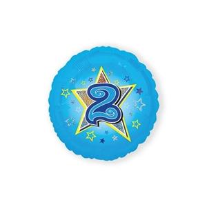 Folie Ballon 2 Jaar Blauwe Ster