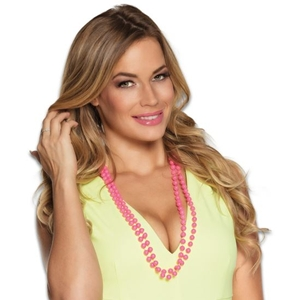 Parel Ketting Roze 2 Laags