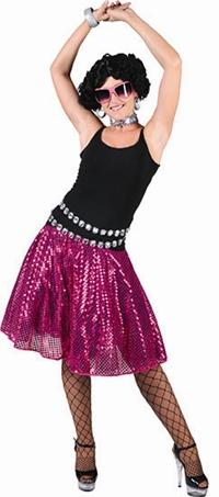 Rok Pailletten Roze Disco