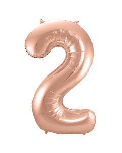 Folie Ballon Rosé Goud Cijfer 2
