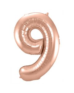 Folie Ballon Rosé Goud Cijfer 9