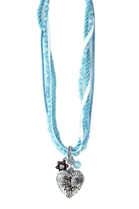 Tiroler Halscollier Blauw Luxe