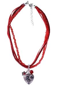 Tiroler Halscollier Rood Luxe