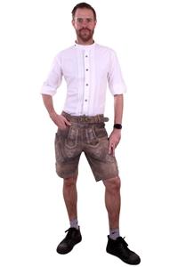 Tiroler blouse wit luxe heren